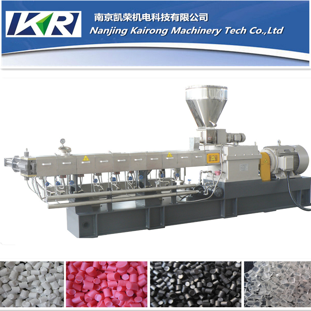 Twin Screw Counter Rotating Extruder, caco3 filler masterbatch pelletizing line