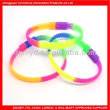 hot sell silicone italian bracelet with lock