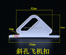 60mm top quality custom small plastic euro hole hook for display box packaging