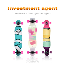 < Agent Wanted> LosenKa MS410 41inch Girls Dancing Skateboard Longboards With 70*51mm Wheels