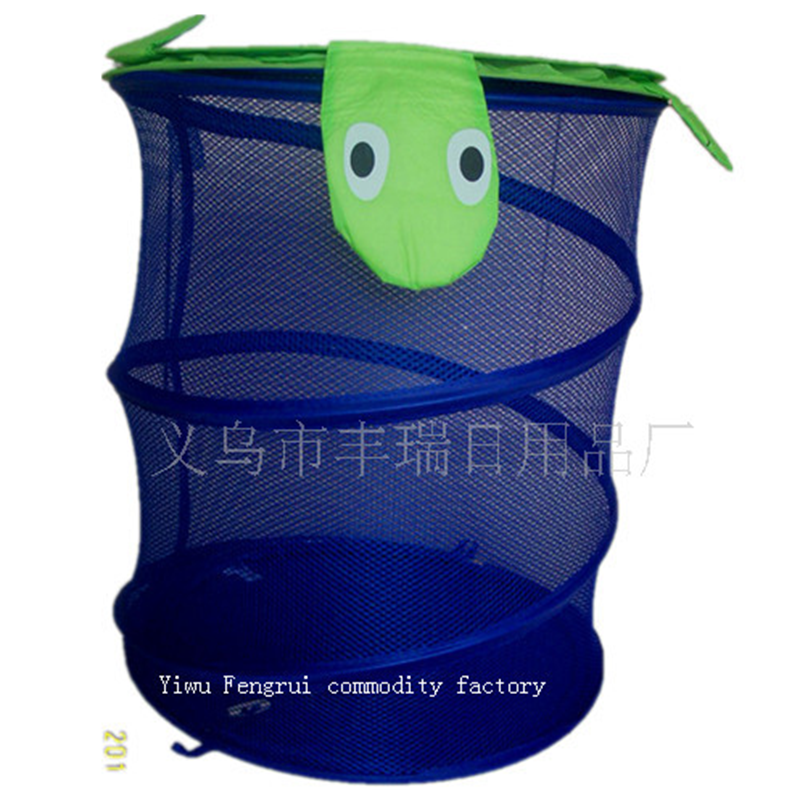collapsible pop up hanging laundry basket for household folding laundry basket