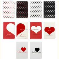Heart shape stand pu case for ipad mini 2 ,fashion case for ipad mini 2