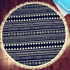 High Quality Mandala Round Beach Towel with Tassle