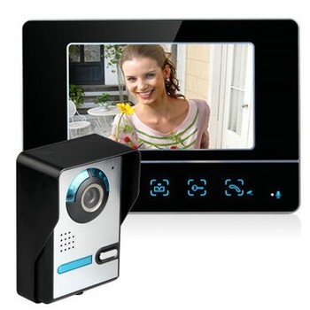 7 inch color TFT video door intercom system with IR Camera