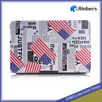 Factory Price for Apple Macbook Pro 13 15 Hard PU Leather Case Cover UK US Flag Printed Cases