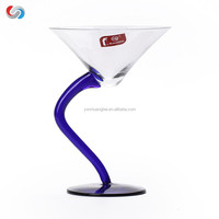 Clear S-shaped cocktail glass Crystal wine glass creative goblet whit gift box