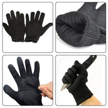 SRSAFETY Black Mesh Glove For Butchers Stainless Steel Glove
