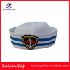 wholesale popular hot sell applique embroidery logo navy sailor hat & cap with custom design