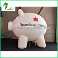 Giant White Inflatable Flying Pig Model For Promotion