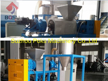 Plastic film squeezing machine for wet soft plastic