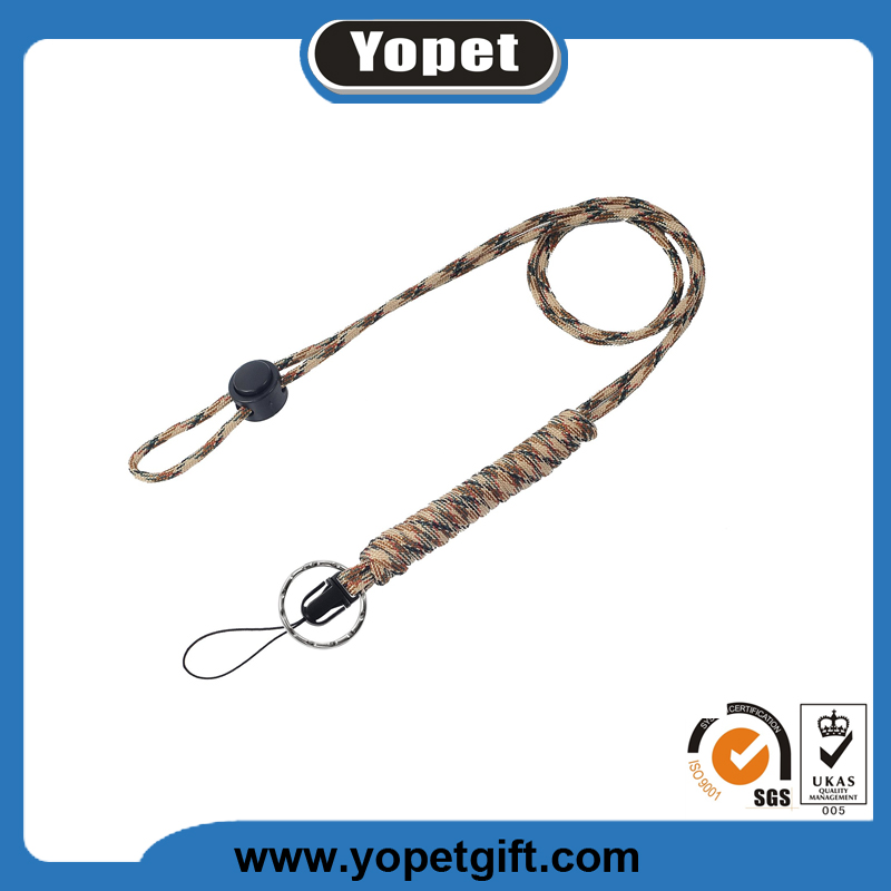 High quality Paracord Survival Lanyard with Split Ring & Clip for Keys