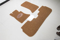 Eco-friendly and good quality PVC coil car mat yellow and brown