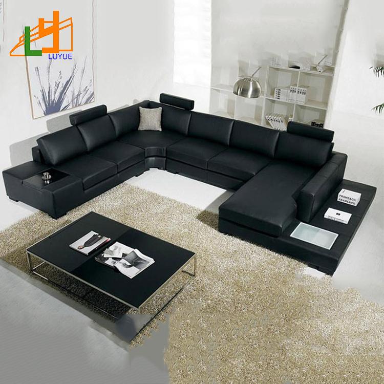 Gold Supplier European Style Modern Furniture Living Room Sofa Set Genuine  Leather Corner Sofa With Lamps - Buy Genuine Leather Sofa,Furniture Living  ...