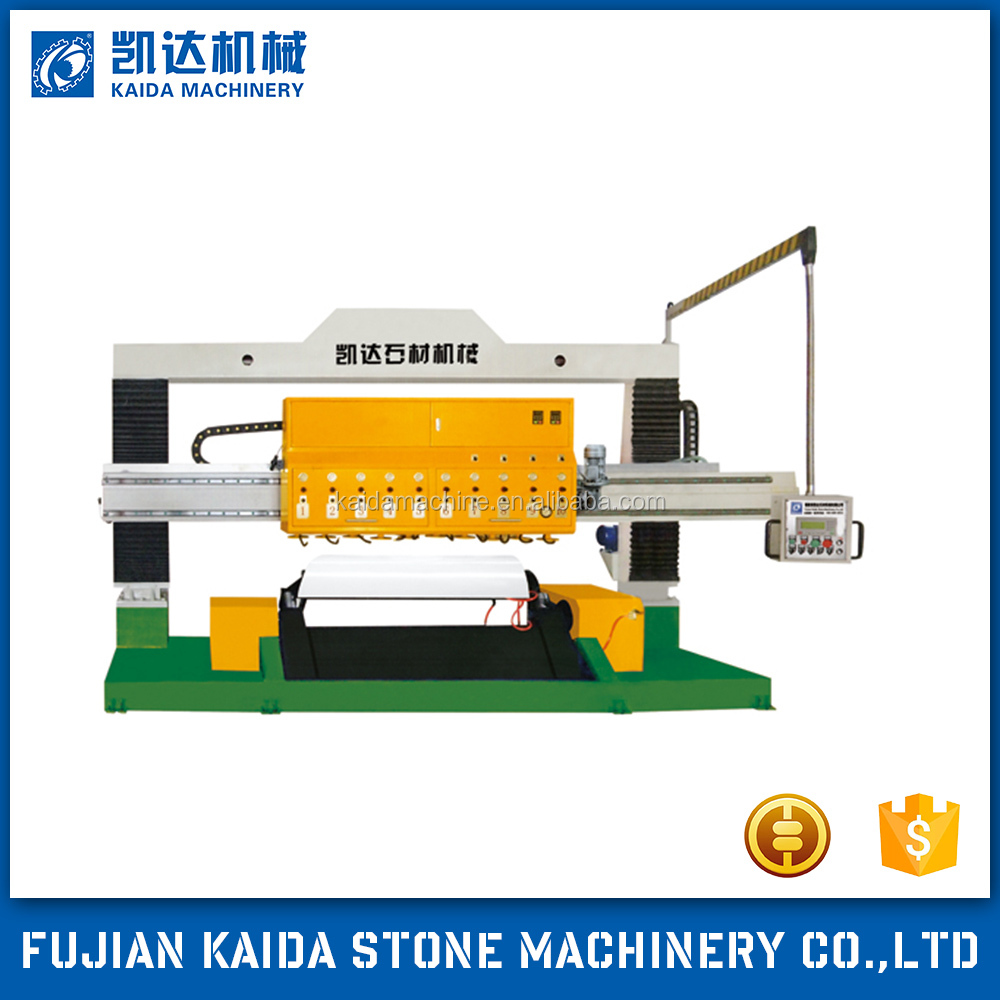 Double head round arc plate granite polishing machine