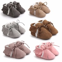 Top Quality New Beautiful Candy Color Baby Moccasins Tassel Baby Shoes Soft Sole Infant Girls Shoes