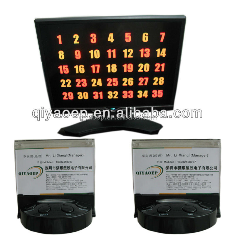 Restaurant Service Callers Table Calling Buttons Enjoy Service Easily And Happily