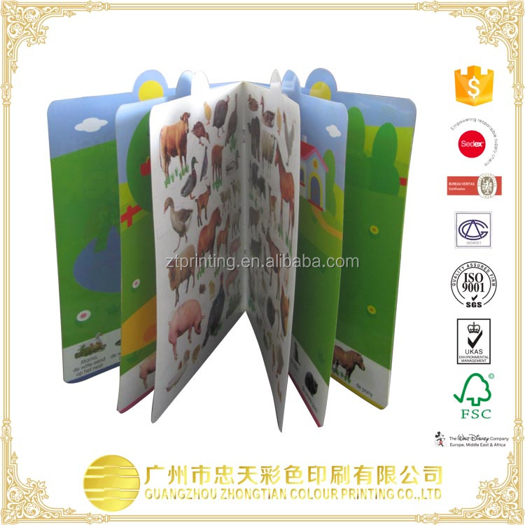 Puzzle Colorful Educational Children Board Books/Hardcover Books For Kids