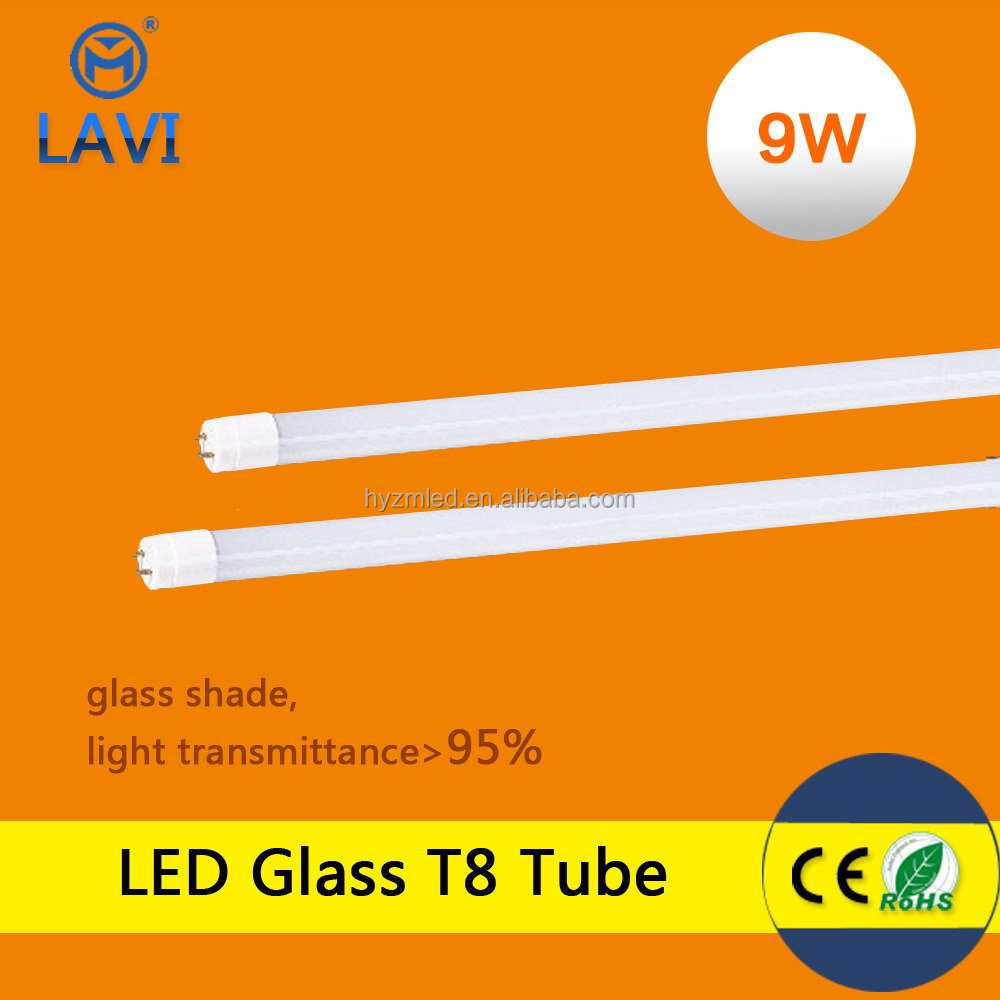 CE Certified Fast Fit Plug-and-Play 2ft 9W LED Tubes, Aluminum and Plastic Housing