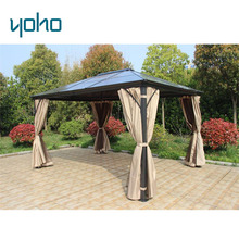 Garden Decorated large metal outdoor garden patio pavilion square gazebo