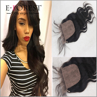 Cheap Sale Virgin Brazilian Human Hair Closure Silk Base Light Brown Lace Closure