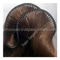 human hair extension hand tied and micro made 3 thread human hair weft