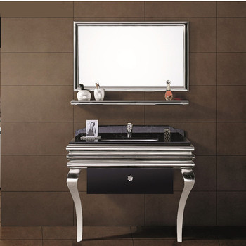 china wholesale 304 stainless steel vanity furniture bathroom cabinet