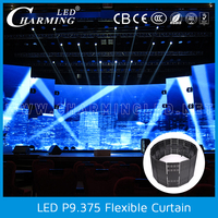 IP65 outdoor mobile led flexible curtain screen