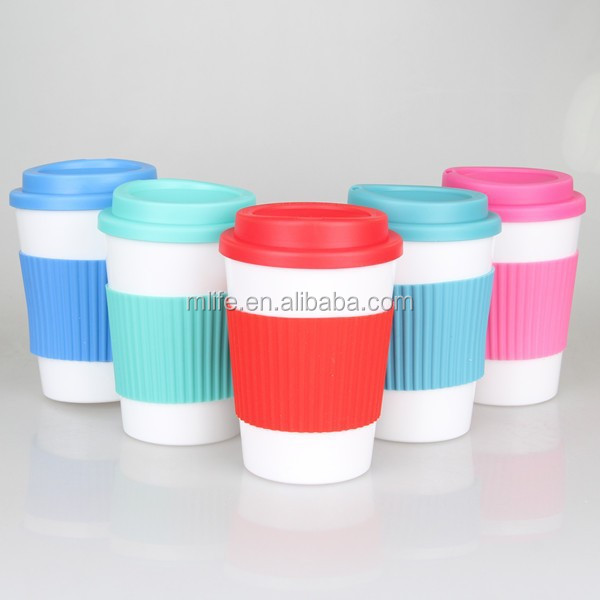 Double Layers Plastic Coffee Cup