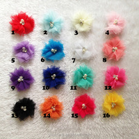 DIY Baby Girl Hair Accessory Chiffon flower Child Head Flower No Clip