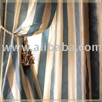 Silk Taffeta Striped Curtains