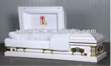 Crepe interior 18 gauge metal casket(1801)