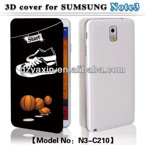 Leather case for samsung galaxy note 3 iii n9000,3D Leather cell phone back cover cases manufacturer