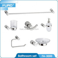 FUAO High quality goods green bathroom accessories set glue