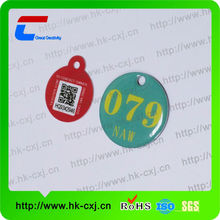 Make your own pvc waterproof luggag tag small size epoxy surface or not