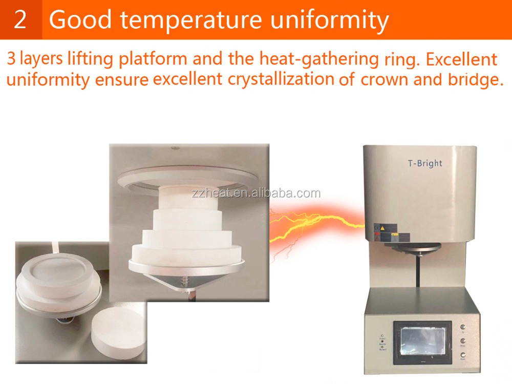 zirconia crystallization laboratory dental electric furnace