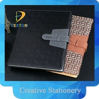 Hot sale new business hardcover customized leather notebook/