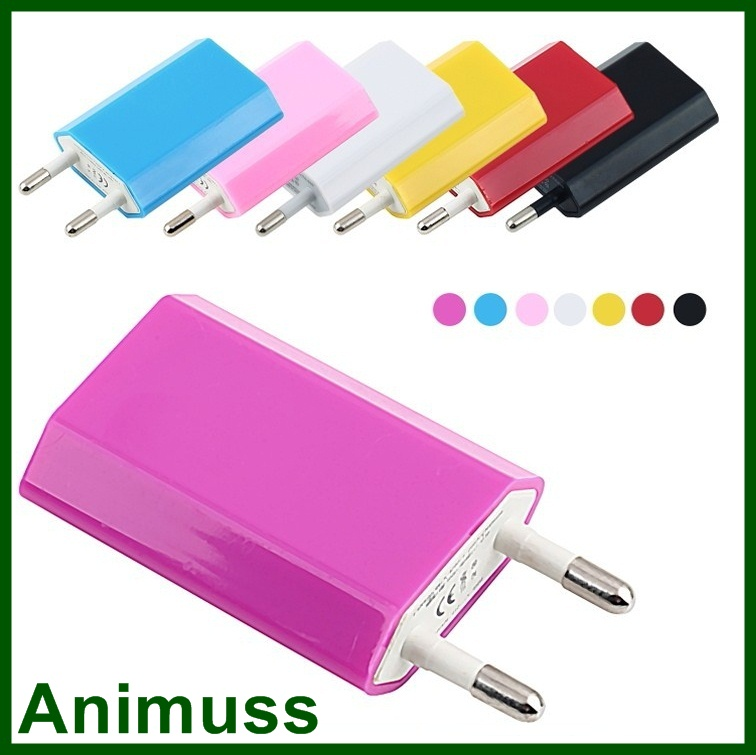 CE ROSH Colorful EU/US/UK Plug AC Power Adapter wall USB car mobile phone smart IC charger for iphone android tablet