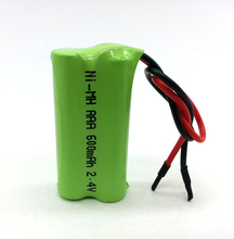 Wholesale Ni-MH AAA 600mAh 2.4V rechargeable battery pack
