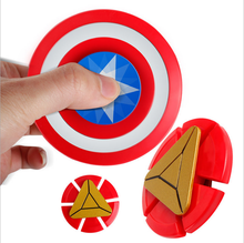 R188 Bearing Captain America Shield 360 Metallic Hand Spinner Fidget Toy Aluminum Fingertips For Kids Adults Stress Reducer Tip