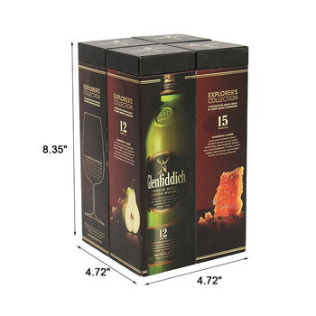 presentation& display champagne gift cardboard wine glass boxes