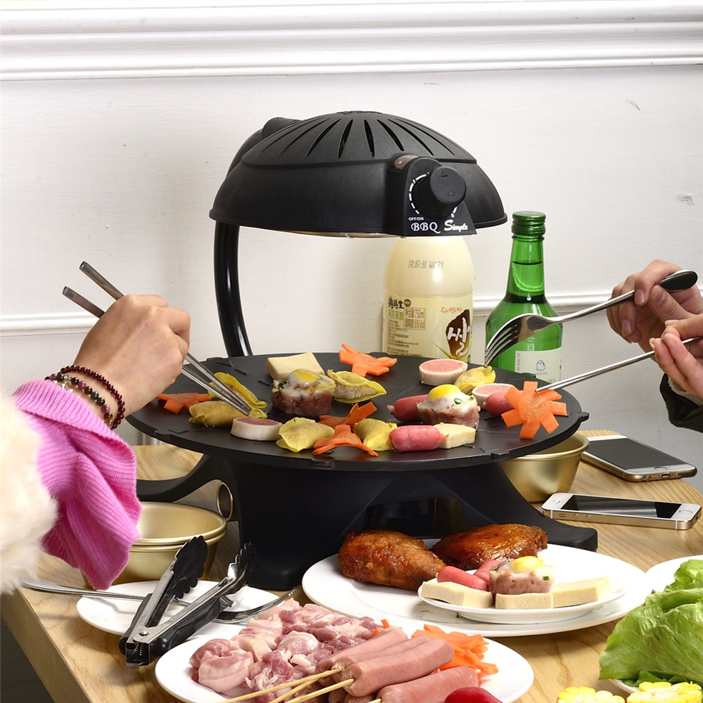 Rotatable anticlockwise shaft with auto power-off design and cheap electric barbecue grill