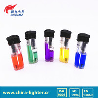 colorful gas electronic cigratte lighter/customized color refilled lighter