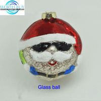 Personalized ball christmas ornaments w/ cool expression from Shenzhen factory