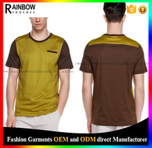office yellow v-neck fashion brand t shirt