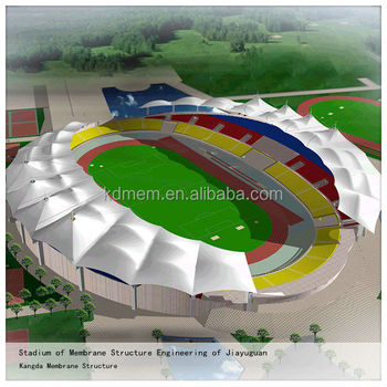 PTFE Tensile Membrane Structure Stadium Canopy Roofing