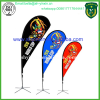 Factory Price Flying Banner Tear Drop Beach Flag On Sale