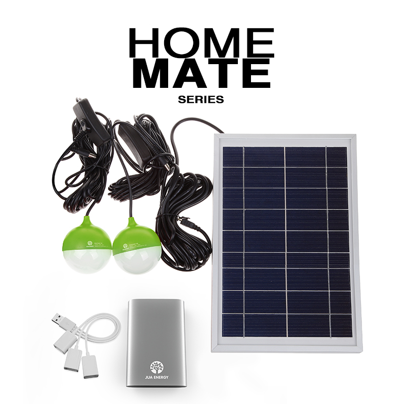 High Efficiency Portable 5W Mini Solar Power System Home with Mobile Power and LED Lighting