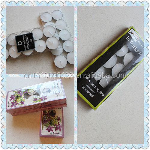 wedding gift box smokeless color mini tea light candle