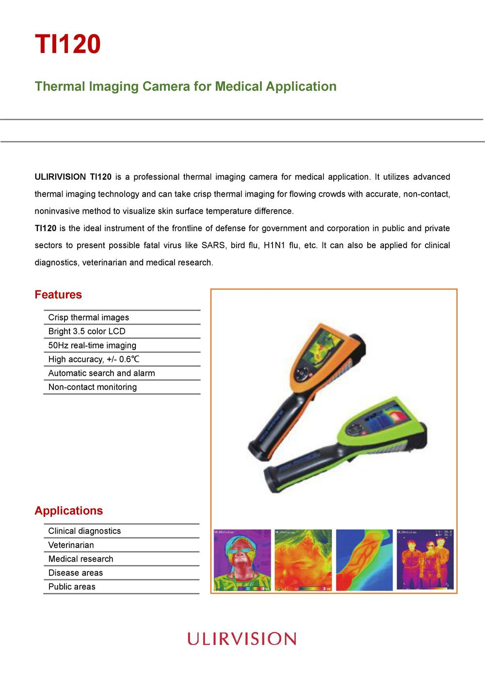 ULIRVISION Thermal Imaging Camera TI120