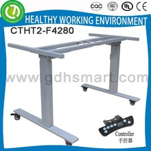 FOSHAN CHANGTENG Brand new healthy adjustable height metal table with 2legs 2 sections